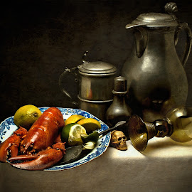 Vanitas II by Jack Hardin - Artistic Objects Still Life ( vanitas, memento mori, still life, pewter, traditional, table, antique, classic, old masters )