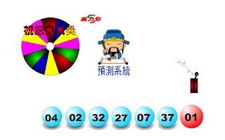 Screenshot of 威力彩預測系統