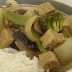 Tofu-Veggie Stir Fry and Gravy