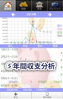 Screenshot of 貯まる家計簿 無料版