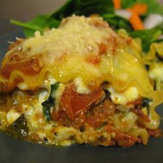 Vegetarian Tofu, Spinach And Cheese Lasagne Rolls