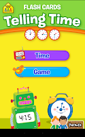 Screenshot of Telling Time Flash Cards