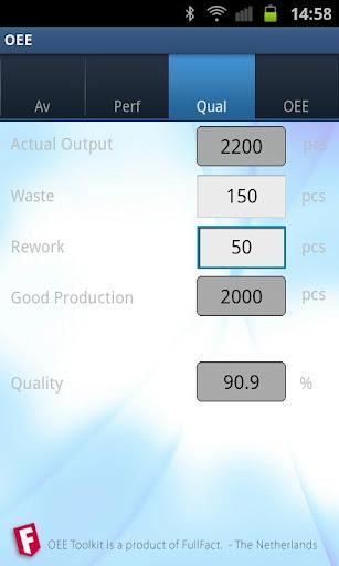 免費商業App|OEE Calculator|阿達玩APP