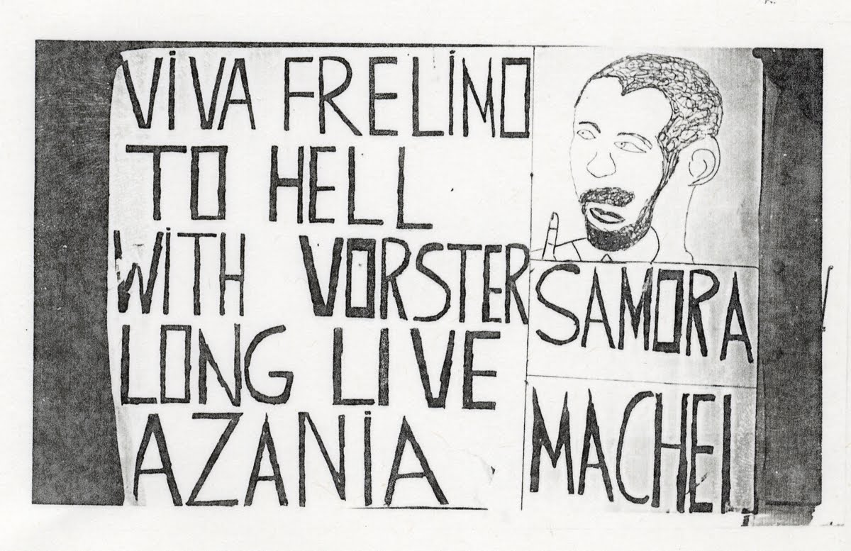 Poster from the 1974 Viva Frelimo Rally