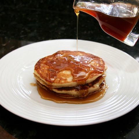 Applesauce Pancakes With Apple Cider Syrup