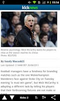 Screenshot of Kick Football News