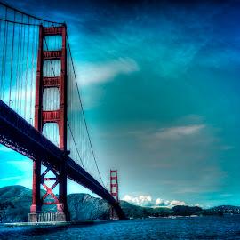 The Bridge by Jessica Lavoie - City,  Street & Park  Skylines ( cityscapes, hdr, bridges, waterfront, san francisco, the golden gate bridge, Urban, City, Lifestyle )