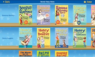 Screenshot of Beverly Cleary Books
