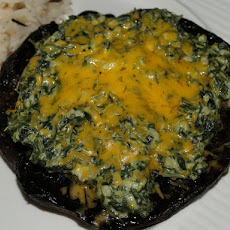 Cheese and Spinach Stuffed Portobellos