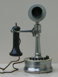 Candlestick Phones - De Veau Tapered Shaft 2 Candlestick Telephone 1