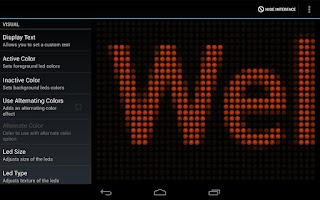 Screenshot of LED Flash Light Text Message