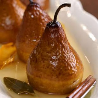Riesling Baked Pears