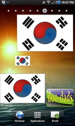 Flag of South Korea doo-dad