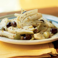 Warm Olives with Fennel and Orange