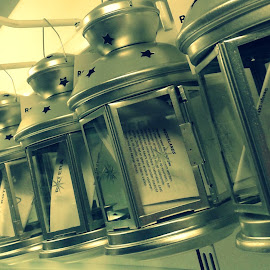 Silver Lanterns by Ernie Kasper - Instagram & Mobile Android ( metal, silver, glass, star, lanterns, shiny )
