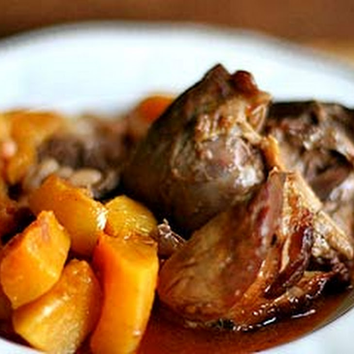Lamb Shanks with Butternut Squash