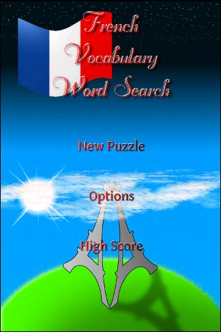 French Vocabulary WordSearch