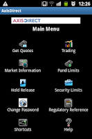 Screenshot of AxisDirect Mobile