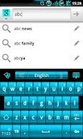 Screenshot of GOKeyboard ElectricCyan - Free