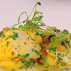 Monkfish With Capers And Saffron