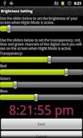 Screenshot of Night Mode, Night clock