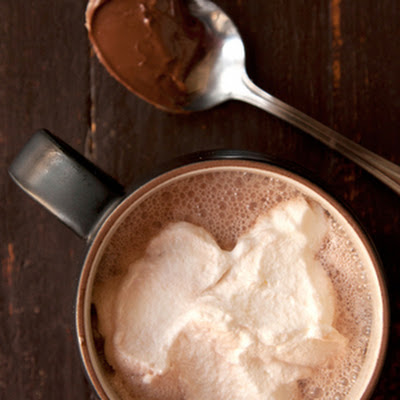 Nutella Hot Chocolate with Hazelnut Liqueur