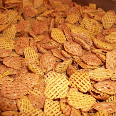 Crispy Glazed Corn Cereal Snack Mix