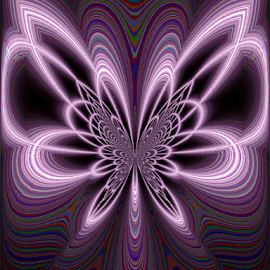 It Flies Away by Tina Dare - Digital Art Abstract ( abstract, patterns, manipulated, designs, distorted, purples, curves, shapes )