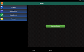 Screenshot of Zoon Tablet Antivirus Free