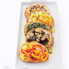 Braised Pepper Bruschetta