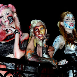 Pin-up Ghouls #2 by Phil Grierson - People Musicians & Entertainers ( scary, girls, gore, goth, beauty, horror )