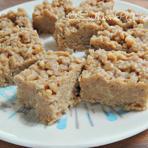 Fudgey Peanut Butter Rice Crispy Treats