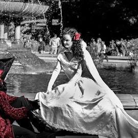 Fairytale in the Park by Gina Gomez - People Couples ( street performers, people, fairytale, couples, selective color, pwc )