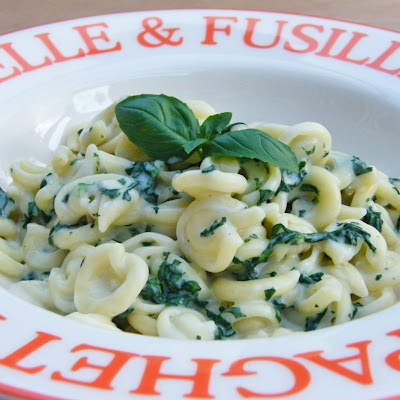 Messicani with Spinach & Cheese Sauce