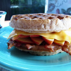Waffle Applewich (Ham, Cheese, and Apple Sandwiches on Waffles)