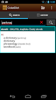 Screenshot of German English Dictionary
