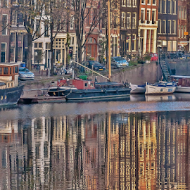Such a magic place! by Jesus Giraldo - City,  Street & Park  Historic Districts ( water, concept, reflection, autos, colors, art, boats, buildings, amsterdam, beauty )
