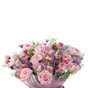 Chocholate and flowers by Rosu Alexandru - Uncategorized All Uncategorized ( flower, bouquet )