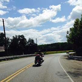 Great day for a ride by Holly Sprenkle - People Couples ( ride, motorcycle )