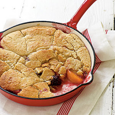 Grilled Summer Fruit Cobbler