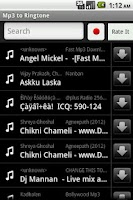 Screenshot of Mp3 To RingTone