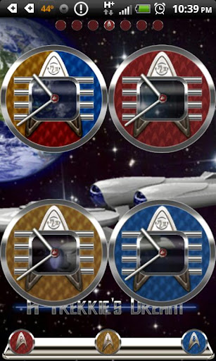 A Trekkie's Dream Clock Set