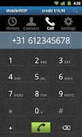 Screenshot of VoipMove free dialer