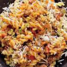 Quick Lamb-and-Olive Sauce with Fusilli