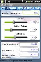 Screenshot of SIP Calculator