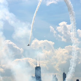 AIR SHOW CHICAGO by Ron Kreft - Transportation Airplanes ( plane, chicago )