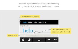 Screenshot of MyScript Stylus (Beta)