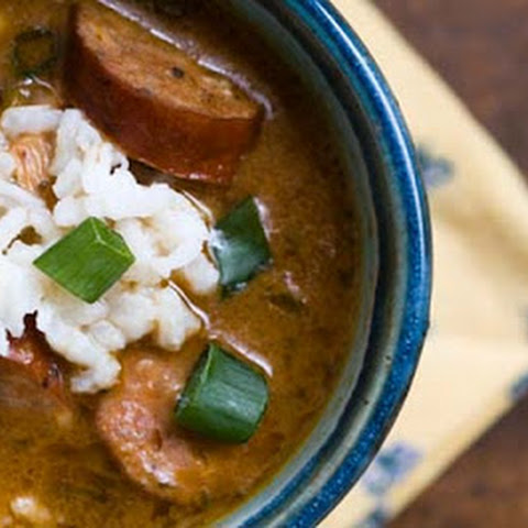 Chicken and sausage gumbo (adapted from Ken Wheaton)