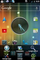 Screenshot of ICS 3D Blue CM7 Theme