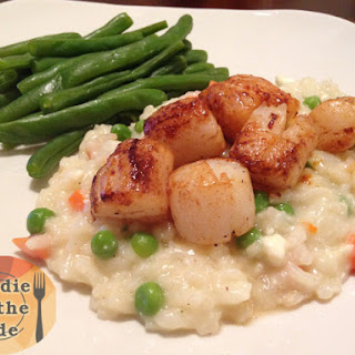 Blackened Sea Scallops & Feta Risotto